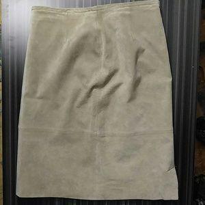 Bernardo Dresses & Skirts - Bernardo collection suede pencil skirt
