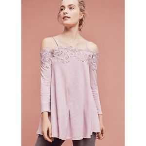 NWT Anthro Meadow Rue Laceline Off The Shoulder