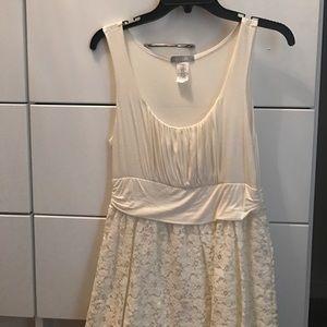 Delias white lace dress