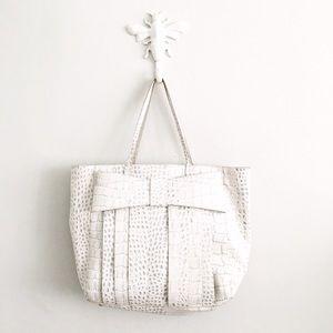 Zac Posen Handbags - ZAC Zac Posen White Leather Shirley Shopper Tote