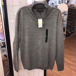 Tricots St. Raphael Other - NWT heather gray cardigan quarter zip soft