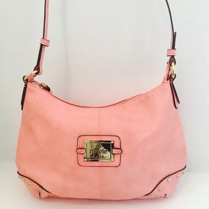 Nicole Miller Handbags - PINK VEGAN LEATHER HOBO by Nicole Miller
