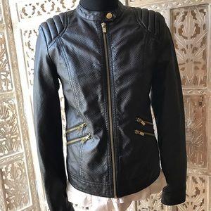 Pull&Bear Jackets & Blazers - Vegan Leather motto jacket size S