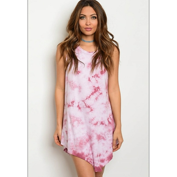a4ecc17144c56 b sharp Dresses | Tie Dye High Low Tshirt Shift Dress | Poshmark