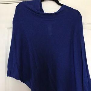 Cobalt blue shrug
