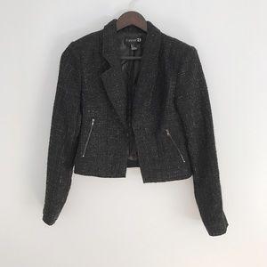 Forever 21 glitter tweed blazer