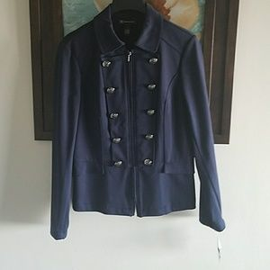 INC Military Zip Blazer