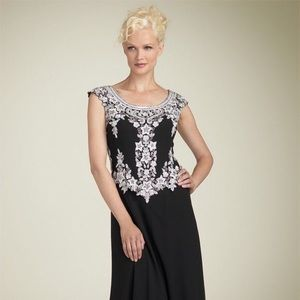 J Kara Dresses & Skirts - J Kara beaded chiffon gown