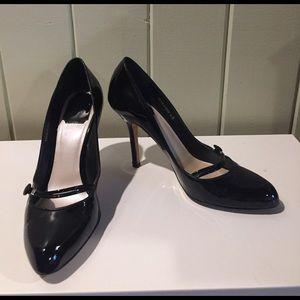 Dior black patent heels