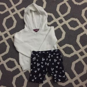 Epic Threads Other - Epic threads heart hoodie and shorts 2t