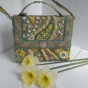 Vera Bradley Handbags - Vera Bradley Julia Bag/Crossbody/Purse LimePaisley