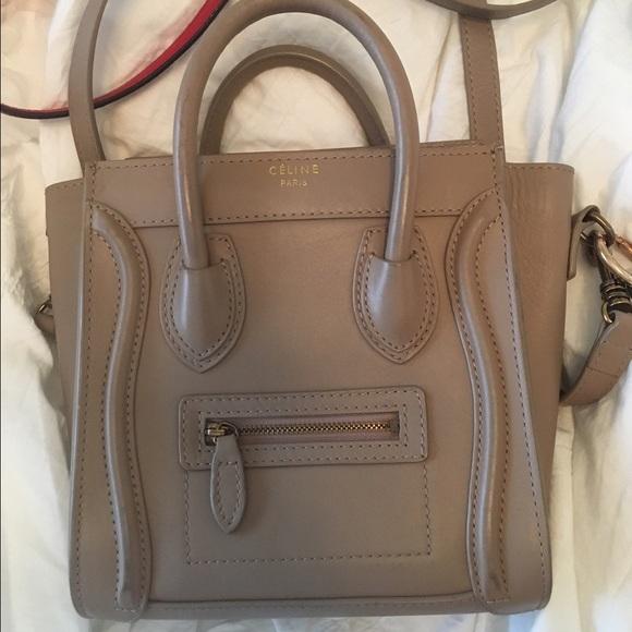 Handbags - Celine Nano Bag Smooth Leather Crossbody Dune 9508ec9090c91