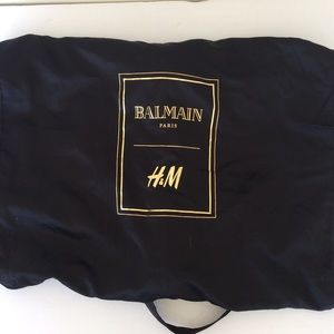 H&M X BALMAIN Garment Dress Bag Dust Black Gold