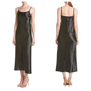 C&c California black satin slip dress S