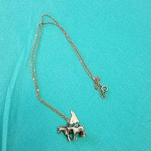 Jewelry - Pewter horse necklace with state of Virginia