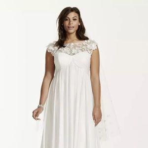 David's Bridal Dresses & Skirts - David's bridal  cap sleeves wedding dress