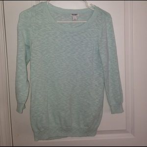 A light blue navy sweater with 3/4 sleeves!