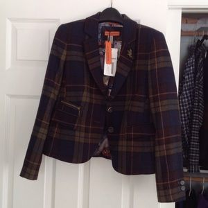 Gerry Weber Jackets & Blazers - Navy plaid wool Blazer. New with tags. Gerry weber
