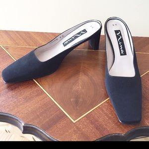 Nina Shoes - Nina Black Fabric Mules Size 8M