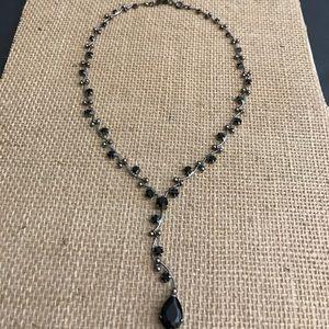 Monet Jewelry - Vintage Monet Black Crystal Choker. EUC