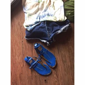 Blue Gold Dolce Vita Thong Sandals | size 6