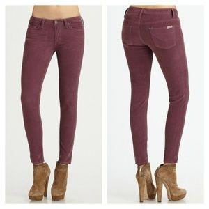 Hudson Jeans Denim - Hudson Nico Plum Skinny Cords
