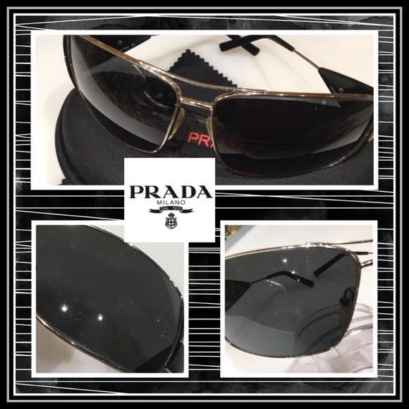 de03981130d Prada SPR 55H Black   Silver Aviator Sunglasses  3.  M 58c57a20f739bc4be303ba76
