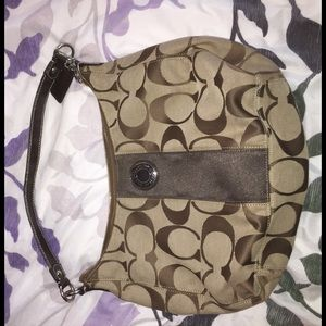 Brown and tan coach satchel!
