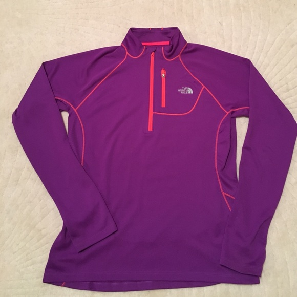 80 off the north face tops north face half zip purple. Black Bedroom Furniture Sets. Home Design Ideas