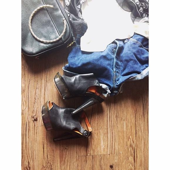 Lanvin Shoes - Lanvin | black Lucite peep toe mule sandal 36 / 6