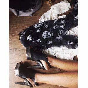Lanvin | black Lucite peep toe mule sandal 36 / 6