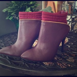 Burgundy ankle boots HOT HOT HOT!!!