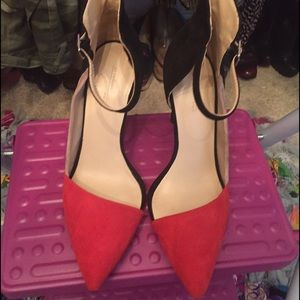 Zara color block heels