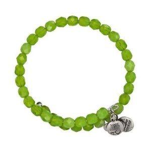 Alex & Ani Jewelry - Alex & Ani Palm Green Jewel Beaded Wrap Bracelet