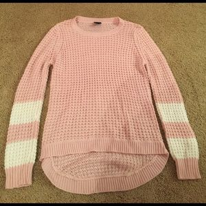 Large Rue 21 Pink & White Knitted Sweater