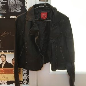 Collection B Jackets & Blazers - Cropped leather jacket