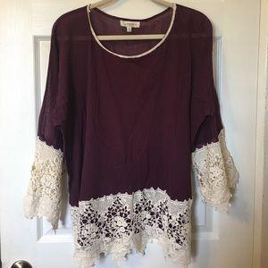 Umgee Tops - New! Umgee + Crochet Shirt