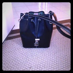 Dooney & Bourke Handbags - Dooney & Bourke Black Toiny Vintage Drawstring Bag
