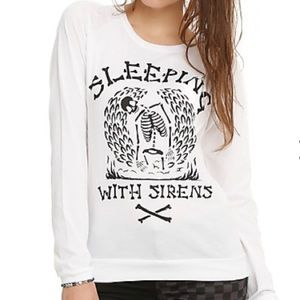 Hot Topic Sweaters - Sleeping With Sirens Skeleton Girls Pullover Top