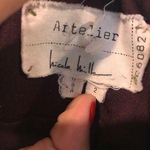 Nicole Miller Skirts - Nicole Miller Artelier maroon  bodycon skirt