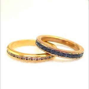 Jewelry - 2 Rhinestone Rings