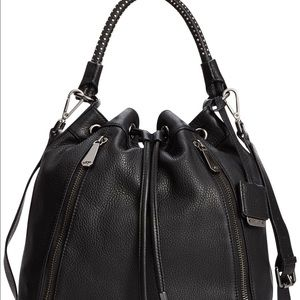 Kenneth Cole Handbags - Kenneth Cole No Slouch Leather Drawstring Bag