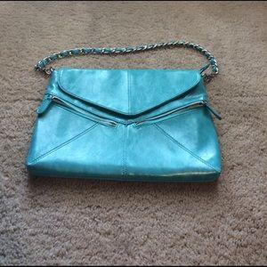 Handbags - Light blue purse with silver