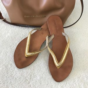 cocobelle Shoes - Gold Braid Flip Flops-New Price