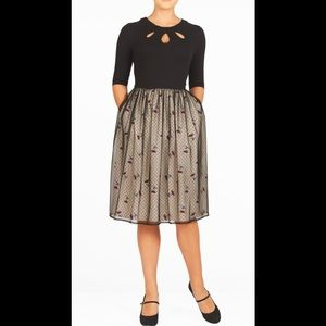 eshakti Dresses & Skirts - New Eshakti Mixed Media Fit & Flare Dress XL 18