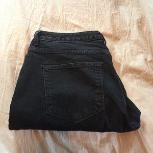 GAP Denim - Gap 'High Rise Skinny' Black Jeans