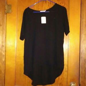 Lush Tops - Black sheer dress top