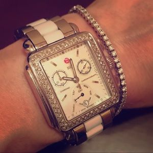 Michele Accessories - Michele Diamond Day Deco Watch