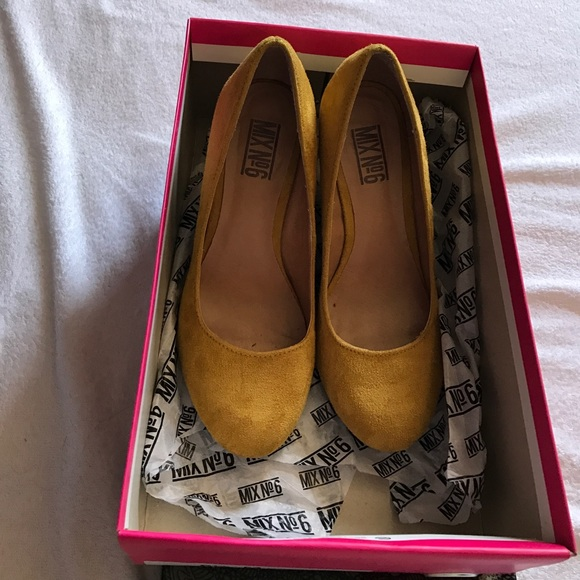 Shoes - Mix No6 faux suede wedges.
