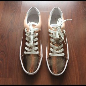 Zara Shoes - Zara cooper sneakers lace up white tennis new 11